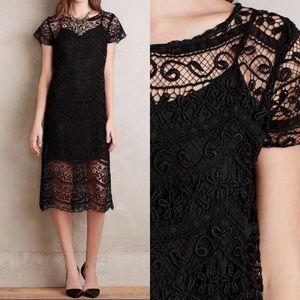 Anthropologie Sz 10 Lace Midi Dress by Myne EUC